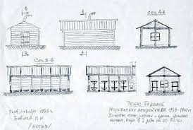 Рисунки бараков