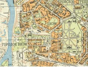 Фрагмент топографической карты середины 60-х годов. 1:25000.