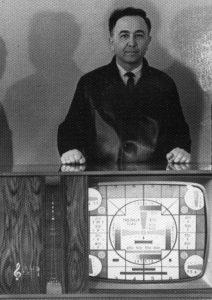 """С телевизионным комбайном """"Рубин"""", который был подарен Л. И. Брежневу"""
