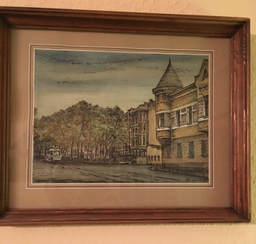 Комзолов Е.А. Яузский бульвар. 1993 г.